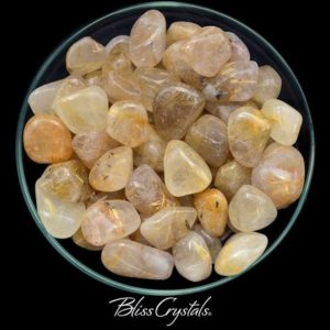 Shop Tumbled Rutilated Quartz Crystals & Pocket Stones! 1 Large Gold RUTILATED QUARTZ Tumbled Stone for Positive Action #GQ09 | Natural genuine stones & crystals in various shapes & sizes. Buy raw cut, tumbled, or polished gemstones for making jewelry or crystal healing energy vibration raising reiki stones. #crystals #gemstones #crystalhealing #crystalsandgemstones #energyhealing #affiliate #ad