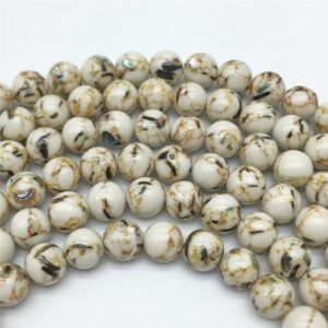 Shop Magnesite Beads! 10mm Magnesite Beads, Round Gemstones Beads, Wholesale Beads | Natural genuine round Magnesite beads for beading and jewelry making.  #jewelry #beads #beadedjewelry #diyjewelry #jewelrymaking #beadstore #beading #affiliate #ad