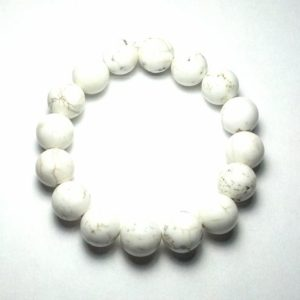 Shop Magnesite Bracelets! 12mm Beautifully Polished Natural Undyed Magnesite Gemstone Beaded Stretch Bracelet Latex Free Stretchy Bead Cord Yoga Bracelet Love Gift | Natural genuine Magnesite bracelets. Buy crystal jewelry, handmade handcrafted artisan jewelry for women.  Unique handmade gift ideas. #jewelry #beadedbracelets #beadedjewelry #gift #shopping #handmadejewelry #fashion #style #product #bracelets #affiliate #ad