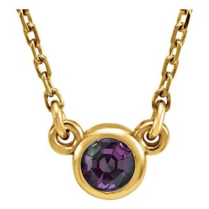 Shop Alexandrite Necklaces! 14K Gold Chatham Created Alexandrite Necklace, Bezel Set Alexandrite Pendant, Full Color Change Chatham Created Alexandrite, June Birthstone | Natural genuine Alexandrite necklaces. Buy crystal jewelry, handmade handcrafted artisan jewelry for women.  Unique handmade gift ideas. #jewelry #beadednecklaces #beadedjewelry #gift #shopping #handmadejewelry #fashion #style #product #necklaces #affiliate #ad