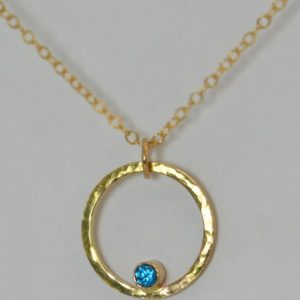 Shop Zircon Necklaces! 14k Gold Filled Blue Zircon Necklace, Mothers Necklace, Mom Necklace, December Birthstone Necklace, Blue Zircon Necklace, Blue Zircon | Natural genuine Zircon necklaces. Buy crystal jewelry, handmade handcrafted artisan jewelry for women.  Unique handmade gift ideas. #jewelry #beadednecklaces #beadedjewelry #gift #shopping #handmadejewelry #fashion #style #product #necklaces #affiliate #ad