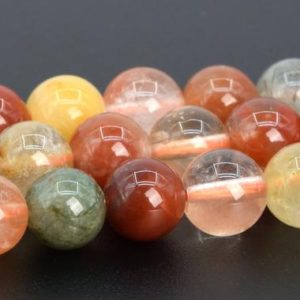 "Shop Rutilated Quartz Round Beads! 6MM Multicolor Rutilated Quartz Beads Grade AAA Genuine Natural Gemstone Full Strand Round Loose Beads 14.5"" Bulk Lot Options (107338-2351) 