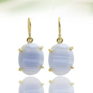 Lace agate earrings,prong earrings,gold earrings,dangle earrings,gemstone earrings,oval stone earrings,bridal earrin | Natural genuine Gemstone earrings. Buy handcrafted artisan wedding jewelry.  Unique handmade bridal jewelry gift ideas. #jewelry #beadedearrings #gift #crystaljewelry #shopping #handmadejewelry #wedding #bridal #earrings #affiliate #ad