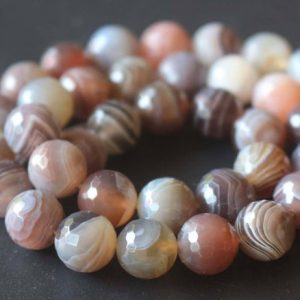 Shop Agate Faceted Beads! Natural 128 Faceted Botswana Agate Beads, 6mm / 8mm / 10mm / 12mm Natural Madagasar Agate Beads, striped Agate Beads, 15 Inches One Starand | Natural genuine faceted Agate beads for beading and jewelry making.  #jewelry #beads #beadedjewelry #diyjewelry #jewelrymaking #beadstore #beading #affiliate #ad