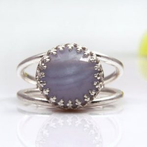 Shop Agate Rings! Lace Agate Ring, sterling Silver Ring, gemstone Ring, lace Ring, agate Stone Ring, delicate Ring, small Ring, birthday Gift | Natural genuine Agate rings, simple unique handcrafted gemstone rings. #rings #jewelry #shopping #gift #handmade #fashion #style #affiliate #ad
