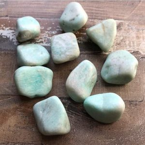 Shop Tumbled Amazonite Crystals & Pocket Stones! Amazonite Crystals – Tumbled | Natural genuine stones & crystals in various shapes & sizes. Buy raw cut, tumbled, or polished gemstones for making jewelry or crystal healing energy vibration raising reiki stones. #crystals #gemstones #crystalhealing #crystalsandgemstones #energyhealing #affiliate #ad
