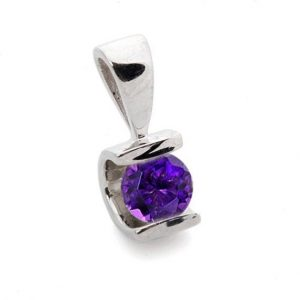 Shop Amethyst Pendants! Amethyst Pendant 1/2 ct-White Gold Pendant-Amethyst necklace-Women Jewelry-Birthstone necklace-For here-Thanksgiving present-Holidays gift | Natural genuine Amethyst pendants. Buy crystal jewelry, handmade handcrafted artisan jewelry for women.  Unique handmade gift ideas. #jewelry #beadedpendants #beadedjewelry #gift #shopping #handmadejewelry #fashion #style #product #pendants #affiliate #ad