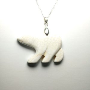 Shop Magnesite Pendants! Beautifully Polished Handcrafted Natural Undyed White Bear Magnesite Gemstone Pendant Necklace Eye Catching Sterling Silver Necklace Love Gi | Natural genuine Magnesite pendants. Buy crystal jewelry, handmade handcrafted artisan jewelry for women.  Unique handmade gift ideas. #jewelry #beadedpendants #beadedjewelry #gift #shopping #handmadejewelry #fashion #style #product #pendants #affiliate #ad