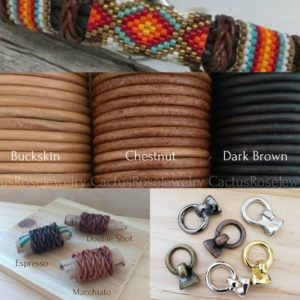 Shop Leather Wrap Bracelet Kits! Boho Southwestern Leather Bracelet Kits, Sundance, Boho, Unisex, Diy, Bracelet, Peyote Pattern | Shop jewelry making and beading supplies, tools & findings for DIY jewelry making and crafts. #jewelrymaking #diyjewelry #jewelrycrafts #jewelrysupplies #beading #affiliate #ad