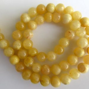Shop Calcite Beads! Yellow Calcite Large Hole Gemstone Beads, 8mm Yellow Calcite Smooth Round Beads, Drill Size 1mm, 15 Inch Strand, Gds553 | Natural genuine round Calcite beads for beading and jewelry making.  #jewelry #beads #beadedjewelry #diyjewelry #jewelrymaking #beadstore #beading #affiliate #ad