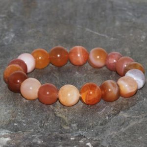 Shop Carnelian Bracelets! Carnelian Bracelet Handmade 10mm Orange Red Carnelian Beaded Gemstone Bracelet Grade AAA Natural Carnelian Bracelet Jewelry Gift Bracelet | Natural genuine Carnelian bracelets. Buy crystal jewelry, handmade handcrafted artisan jewelry for women.  Unique handmade gift ideas. #jewelry #beadedbracelets #beadedjewelry #gift #shopping #handmadejewelry #fashion #style #product #bracelets #affiliate #ad