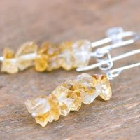 Raw Citrine Earrings – Rough Citrine Crystal Earrings – Scoprio Gift For Her – November Birthstone – Orange Gift For Wife – Gift For Her – | Natural genuine Gemstone jewelry. Buy crystal jewelry, handmade handcrafted artisan jewelry for women.  Unique handmade gift ideas. #jewelry #beadedjewelry #beadedjewelry #gift #shopping #handmadejewelry #fashion #style #product #jewelry #affiliate #ad