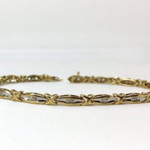 Shop Diamond Bracelets! 10kt Yellow Gold Natural Diamond Bracelet, Appraised 3,582 USD | Natural genuine Diamond bracelets. Buy crystal jewelry, handmade handcrafted artisan jewelry for women.  Unique handmade gift ideas. #jewelry #beadedbracelets #beadedjewelry #gift #shopping #handmadejewelry #fashion #style #product #bracelets #affiliate #ad