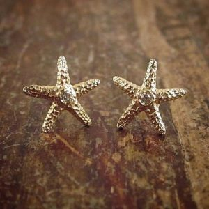 Shop Diamond Earrings! Gold Starfish Earrings Rose Gold Starfish Stud Earrings Gold Starfish Studs Diamond Stud Earring Diamond Earrings Women Gift 14K Gold Studs | Natural genuine Diamond earrings. Buy crystal jewelry, handmade handcrafted artisan jewelry for women.  Unique handmade gift ideas. #jewelry #beadedearrings #beadedjewelry #gift #shopping #handmadejewelry #fashion #style #product #earrings #affiliate #ad
