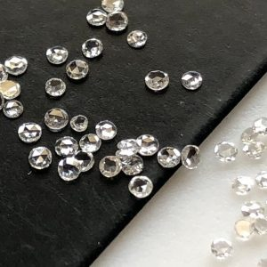 10 Pieces Tiny Rare 1mm To 1.5mm Natural Clear White Round Rose Cut Diamond Loose, Clear White G Color VS2 Diamond Rose Cut, DDS581/3 | Natural genuine round Diamond beads for beading and jewelry making.  #jewelry #beads #beadedjewelry #diyjewelry #jewelrymaking #beadstore #beading #affiliate #ad