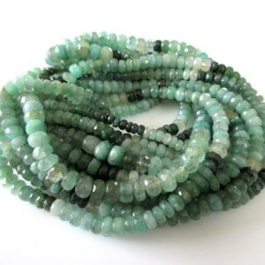 Shop Emerald Faceted Beads! Natural Emerald Faceted Rondelle Beads, 5mm Faceted Emerald Beads, Green Emerald Shaded Gemstone Beads, 16 Inch Strand, GDS1081 | Natural genuine faceted Emerald beads for beading and jewelry making.  #jewelry #beads #beadedjewelry #diyjewelry #jewelrymaking #beadstore #beading #affiliate #ad