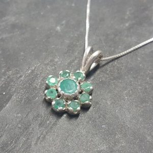 Shop Emerald Pendants! Green Pendant, Emerald Pendant, Natural Emerald, May Birthstone, Flower Pendant, Vintage Flower Pendant, Floral Pendant, 925 Silver Pendant   Natural genuine Emerald pendants. Buy crystal jewelry, handmade handcrafted artisan jewelry for women.  Unique handmade gift ideas. #jewelry #beadedpendants #beadedjewelry #gift #shopping #handmadejewelry #fashion #style #product #pendants #affiliate #ad