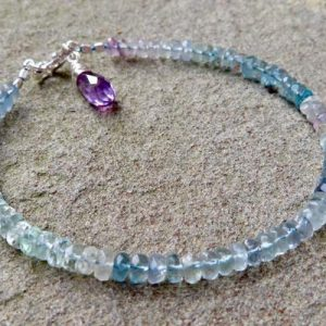 Shop Fluorite Bracelets! Fluorite Stacking Bracelet, Ombré Fluorite Layering Bracelet, Fluorite Jewelry | Natural genuine Fluorite bracelets. Buy crystal jewelry, handmade handcrafted artisan jewelry for women.  Unique handmade gift ideas. #jewelry #beadedbracelets #beadedjewelry #gift #shopping #handmadejewelry #fashion #style #product #bracelets #affiliate #ad