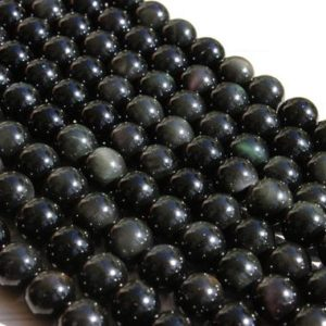 Shop Rainbow Obsidian Beads! Genuine Natural Rainbow Obsidian Smooth Round Sphere Gemstone Stone Loose Beads | Natural genuine round Rainbow Obsidian beads for beading and jewelry making.  #jewelry #beads #beadedjewelry #diyjewelry #jewelrymaking #beadstore #beading #affiliate #ad