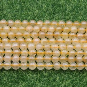 Shop Rutilated Quartz Round Beads! Gold Rutilated Quartz Round Beads,Smooth Polish Crystals Beads,6mm 8mm 10mm 12mm Gold Rutilated Quartz Round Beads,Good Quality Gemstone. | Natural genuine round Rutilated Quartz beads for beading and jewelry making.  #jewelry #beads #beadedjewelry #diyjewelry #jewelrymaking #beadstore #beading #affiliate #ad