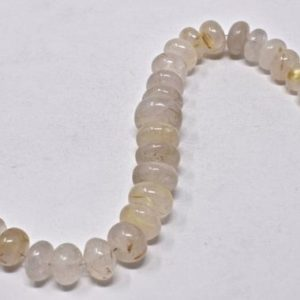"Shop Rutilated Quartz Rondelle Beads! Golden Rutilated Quartz Big Rondelle Gemstone Beads, Big Gemstones, Indian Gems, Jewelry Making, Necklace Supplies, 5-11mm, 7"" Strand 