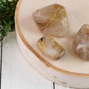 GOLDEN RUTILATED QUARTZ Tumbled Stones – Unique Gift, Housewarming Gift, Healing Crystals and Stones E0746 | Natural genuine stones & crystals in various shapes & sizes. Buy raw cut, tumbled, or polished gemstones for making jewelry or crystal healing energy vibration raising reiki stones. #crystals #gemstones #crystalhealing #crystalsandgemstones #energyhealing #affiliate #ad
