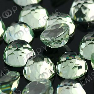 Prasiolite (Green Amethyst) Rose Cut Cabochon 6mm Round – per stone | Natural genuine stones & crystals in various shapes & sizes. Buy raw cut, tumbled, or polished gemstones for making jewelry or crystal healing energy vibration raising reiki stones. #crystals #gemstones #crystalhealing #crystalsandgemstones #energyhealing #affiliate #ad