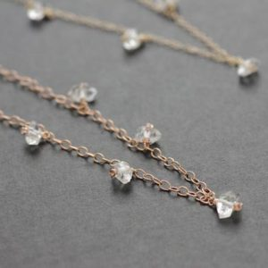 Shop Herkimer Diamond Necklaces! Herkimer Diamond Quartz Choker Necklace | Natural genuine Herkimer Diamond necklaces. Buy crystal jewelry, handmade handcrafted artisan jewelry for women.  Unique handmade gift ideas. #jewelry #beadednecklaces #beadedjewelry #gift #shopping #handmadejewelry #fashion #style #product #necklaces #affiliate #ad