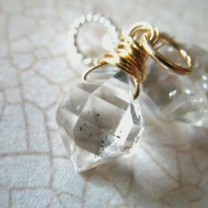 Shop Herkimer Diamond Pendants! HERKIMER DIAMOND Pendant Charm Add a Dangles Interchangeable Drop, Sterling Silver or 14k Gold, Handmade Jewelry, gift for her gemdone gd601 | Natural genuine Herkimer Diamond pendants. Buy crystal jewelry, handmade handcrafted artisan jewelry for women.  Unique handmade gift ideas. #jewelry #beadedpendants #beadedjewelry #gift #shopping #handmadejewelry #fashion #style #product #pendants #affiliate #ad