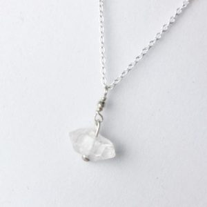 """Shop Herkimer Diamond Pendants! Herkimer Diamond Pendant Necklace in Sterling Silver, 16-18"""" inch Length 