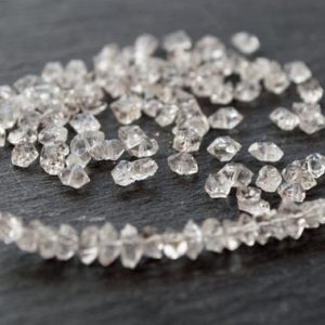 Shop Gemstone Chip & Nugget Beads! Herkimer diamonds | drilled Herkimer Quartz | quartz crystals | medium quartz beads | beads | crystal beads | drilled herkimer | drilled gem | Natural genuine chip Gemstone beads for beading and jewelry making.  #jewelry #beads #beadedjewelry #diyjewelry #jewelrymaking #beadstore #beading #affiliate #ad