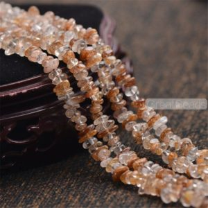 Shop Rutilated Quartz Chip & Nugget Beads! High Quality Natural Gold Rutilated Quartz Chips NOT Dyed 3X7mm 15 Inch Strand RQ55 | Natural genuine chip Rutilated Quartz beads for beading and jewelry making.  #jewelry #beads #beadedjewelry #diyjewelry #jewelrymaking #beadstore #beading #affiliate #ad