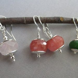 Wire Earrings / Metalsmith Earrings / artisan Earrings / Sterling Silverearrings / Gemstone Earrings / Canadian Jade Earings | Natural genuine Jade earrings. Buy crystal jewelry, handmade handcrafted artisan jewelry for women.  Unique handmade gift ideas. #jewelry #beadedearrings #beadedjewelry #gift #shopping #handmadejewelry #fashion #style #product #earrings #affiliate #ad