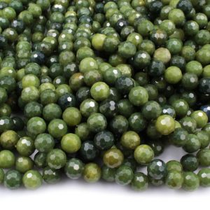"Shop Jade Beads! Micro Faceted Natural Canadian Green Jade 8mm 10mm Round Beads Laser Diamond Cut Real Genuine Green Jade Sharp Facets Gemstone 15.5"" Strand 