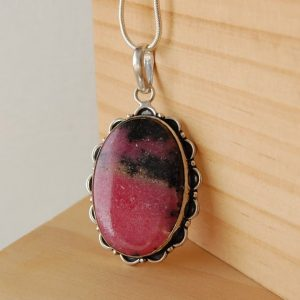 Shop Jade Pendants! Rhodenite Necklace, Rhodenite Pendant, Peach Blossom Jade, Pink Crystals, Calming Stones, Stones For Love, Pink Gemstones, Crystal Jewelry | Natural genuine Jade pendants. Buy crystal jewelry, handmade handcrafted artisan jewelry for women.  Unique handmade gift ideas. #jewelry #beadedpendants #beadedjewelry #gift #shopping #handmadejewelry #fashion #style #product #pendants #affiliate #ad