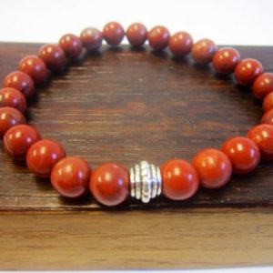 Shop Jasper Bracelets! Red Jasper Bracelet Sacral Chakra Bracelet Energy Bracelet Meditation Yoga Bracelet Red Jasper Root Chakra Bracelet Red Jasper Wrist Mala | Natural genuine Jasper bracelets. Buy crystal jewelry, handmade handcrafted artisan jewelry for women.  Unique handmade gift ideas. #jewelry #beadedbracelets #beadedjewelry #gift #shopping #handmadejewelry #fashion #style #product #bracelets #affiliate #ad