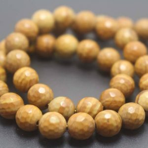 Shop Jasper Faceted Beads! 128 Faceted Wood Jasper Round Beads,6mm/8mm/10mm/12mm Gemstone Beads Supply,15 inches one starand | Natural genuine faceted Jasper beads for beading and jewelry making.  #jewelry #beads #beadedjewelry #diyjewelry #jewelrymaking #beadstore #beading #affiliate #ad