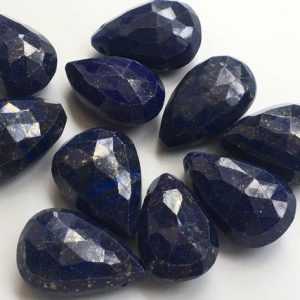 Shop Lapis Lazuli Bead Shapes! 4 pcs lapis pear briolettes,15/21mm appx,lapis briolletes beads top side drilled | Natural genuine other-shape Lapis Lazuli beads for beading and jewelry making.  #jewelry #beads #beadedjewelry #diyjewelry #jewelrymaking #beadstore #beading #affiliate #ad
