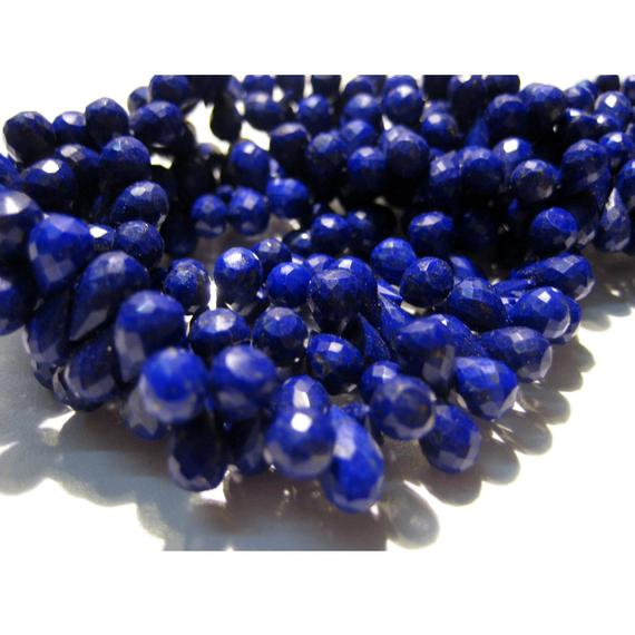 7x10mm Lapis Lazuli Faceted Tear Drop Beads, Lapis Lazuli Faceted Briolettes,  Lapis Lazuli Faceted Drop For Jewelry (20pcs To 40pcs Option)
