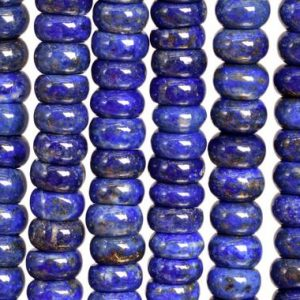 Shop Lapis Lazuli Rondelle Beads! 74 / 34 Pcs – 8×3-7mm Deep Blue Lapis Lazuli Beads Afghanistan Grade A Genuine Natural Rondelle Gemstone Loose Beads (108748) | Natural genuine rondelle Lapis Lazuli beads for beading and jewelry making.  #jewelry #beads #beadedjewelry #diyjewelry #jewelrymaking #beadstore #beading #affiliate #ad