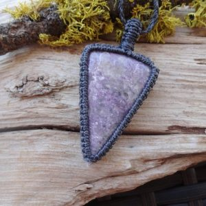 Shop Lepidolite Pendants! Lilac Lepidolite necklace / Purple stone necklace depression anti stress anxiety healing jewelry pendant for Mom | Natural genuine Lepidolite pendants. Buy crystal jewelry, handmade handcrafted artisan jewelry for women.  Unique handmade gift ideas. #jewelry #beadedpendants #beadedjewelry #gift #shopping #handmadejewelry #fashion #style #product #pendants #affiliate #ad