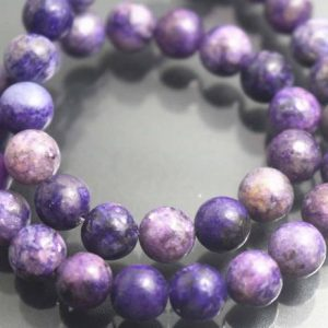Shop Lepidolite Beads! 8mm Natural Purple Lepidolite Round Beads,Purple Mica Roung Beads,15 inches one starand | Natural genuine round Lepidolite beads for beading and jewelry making.  #jewelry #beads #beadedjewelry #diyjewelry #jewelrymaking #beadstore #beading #affiliate #ad