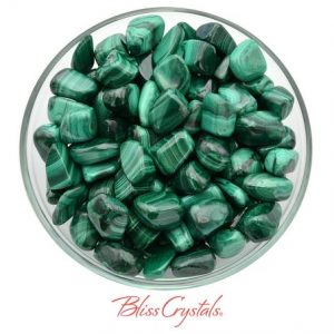 Shop Tumbled Malachite Crystals & Pocket Stones! 1 MALACHITE Tumbled Stone Size Large for Protection Memory Health #ML03 | Natural genuine stones & crystals in various shapes & sizes. Buy raw cut, tumbled, or polished gemstones for making jewelry or crystal healing energy vibration raising reiki stones. #crystals #gemstones #crystalhealing #crystalsandgemstones #energyhealing #affiliate #ad