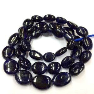 Shop Sapphire Chip & Nugget Beads! Natural Smooth Rare Blue Sapphire Nuggets Shape Beads 10mm Loose Gemstone Beads 18″ Strand | Natural genuine chip Sapphire beads for beading and jewelry making.  #jewelry #beads #beadedjewelry #diyjewelry #jewelrymaking #beadstore #beading #affiliate #ad