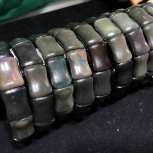 Shop Rainbow Obsidian Bracelets! obsidian bracelet celeste eye, bamboo size Quality A | Natural genuine Rainbow Obsidian bracelets. Buy crystal jewelry, handmade handcrafted artisan jewelry for women.  Unique handmade gift ideas. #jewelry #beadedbracelets #beadedjewelry #gift #shopping #handmadejewelry #fashion #style #product #bracelets #affiliate #ad