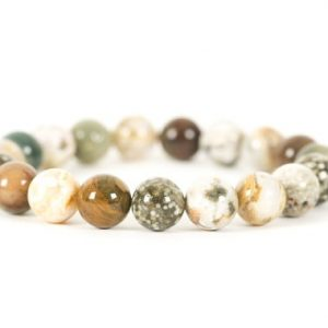 Ocean Jasper Bracelet, Orbicular Jasper Bracelet, Stacking Stretch Bracelet Made With 10mm Ocean Jasper Gemstones | Natural genuine Ocean Jasper bracelets. Buy crystal jewelry, handmade handcrafted artisan jewelry for women.  Unique handmade gift ideas. #jewelry #beadedbracelets #beadedjewelry #gift #shopping #handmadejewelry #fashion #style #product #bracelets #affiliate #ad