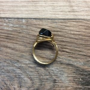 Shop Onyx Rings! Black Onyx ring – 14k gold filled or Sterling silver faceted wire wrapped gemstone ring | Natural genuine Onyx rings, simple unique handcrafted gemstone rings. #rings #jewelry #shopping #gift #handmade #fashion #style #affiliate #ad