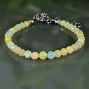 Shop Opal Bracelets! Genuine Ethiopian Opal Bracelet Fire Opal October Birthstone Birthday Gift For Mom Dainty Gift For Wife For True Love | Natural genuine Opal bracelets. Buy crystal jewelry, handmade handcrafted artisan jewelry for women.  Unique handmade gift ideas. #jewelry #beadedbracelets #beadedjewelry #gift #shopping #handmadejewelry #fashion #style #product #bracelets #affiliate #ad