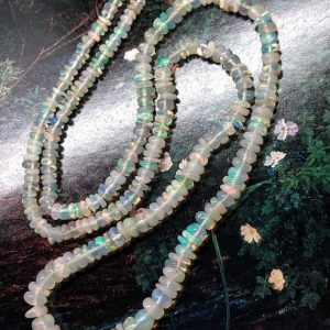 Shop Rondelle Gemstone Beads! Amazing glowy Ethiopian Opal faceted White gold multi colour Rondelle Spacer Beads / Fiery beads / Choose quantity 2.6-4.6mm | Natural genuine rondelle Gemstone beads for beading and jewelry making.  #jewelry #beads #beadedjewelry #diyjewelry #jewelrymaking #beadstore #beading #affiliate #ad