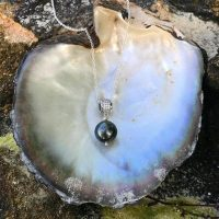 Tahitian Pearl Pendant Necklace / Black / Green / Tahitian Pearl / Pendant / Sea Treasure / Jewelry | Natural genuine Gemstone jewelry. Buy crystal jewelry, handmade handcrafted artisan jewelry for women.  Unique handmade gift ideas. #jewelry #beadedjewelry #beadedjewelry #gift #shopping #handmadejewelry #fashion #style #product #jewelry #affiliate #ad